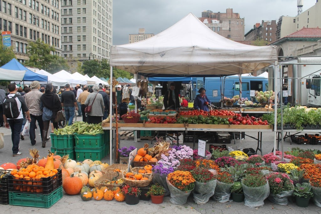 Saturday morning at Union Square Greenmarket in September/NYC