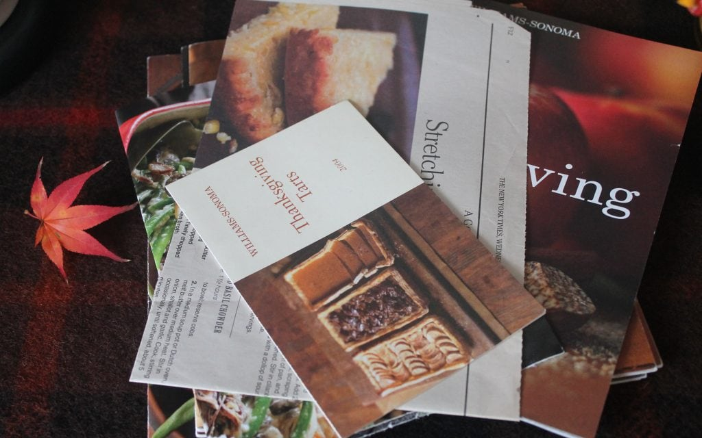 Thanksgiving recipe books from Williams-Sonoma