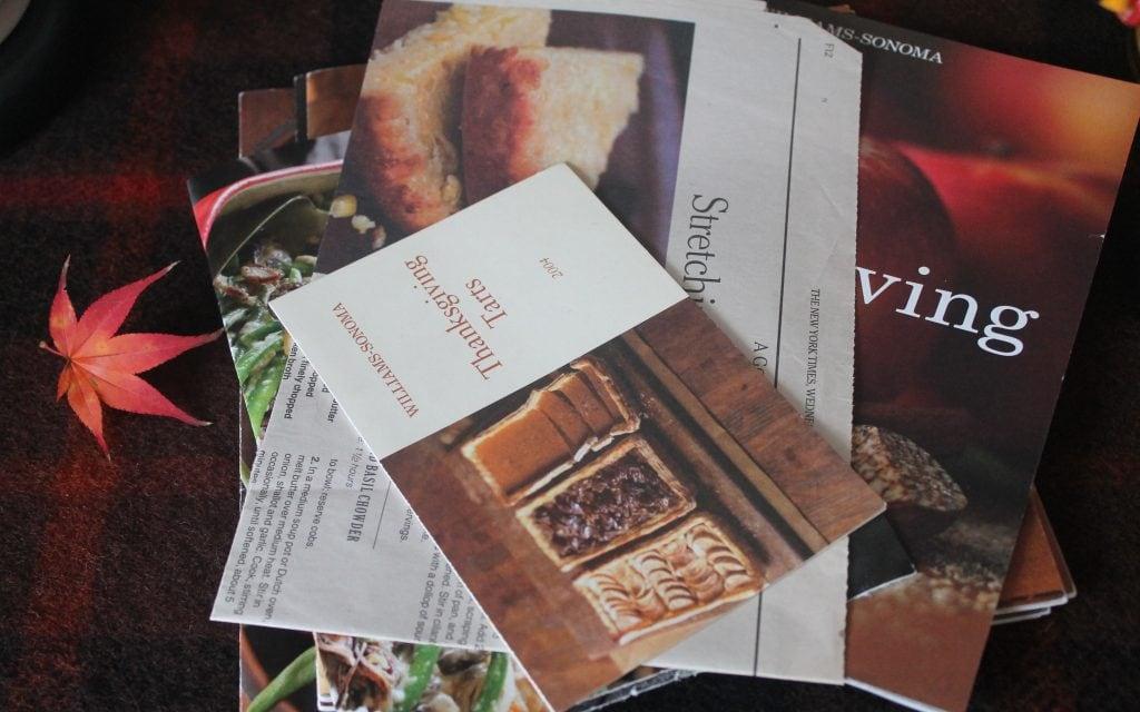 Thanksgiving recipe books from Williams-Sonoma