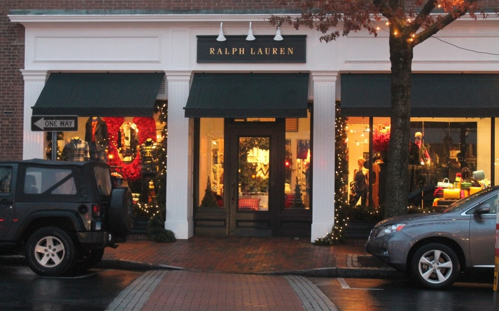 Ralph Lauren on Elm Street in New Canaan, CT