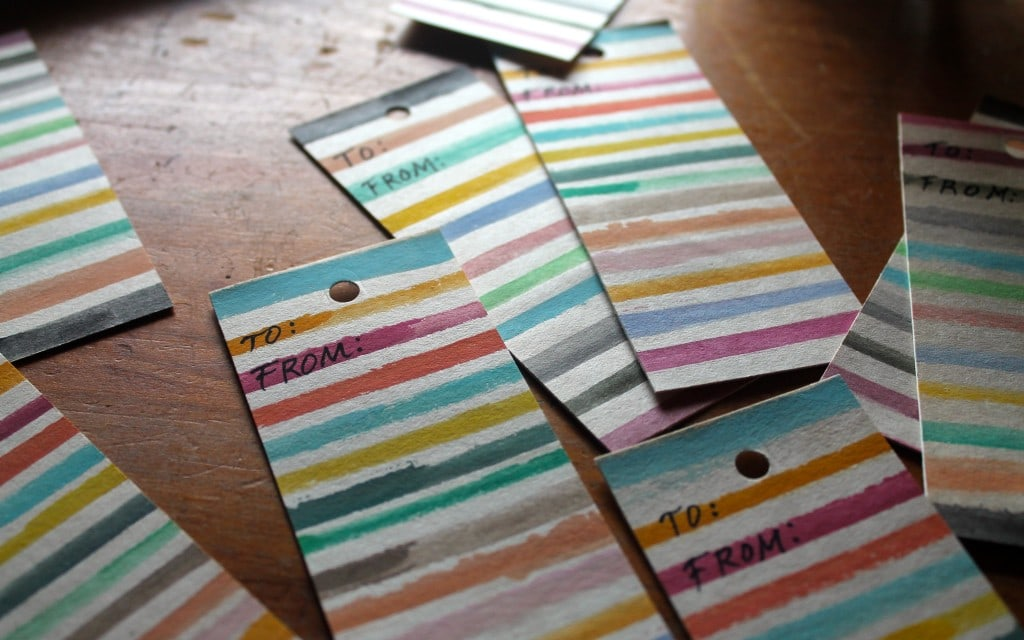 DIY Gift tags inspired by Sara Midda's South of France