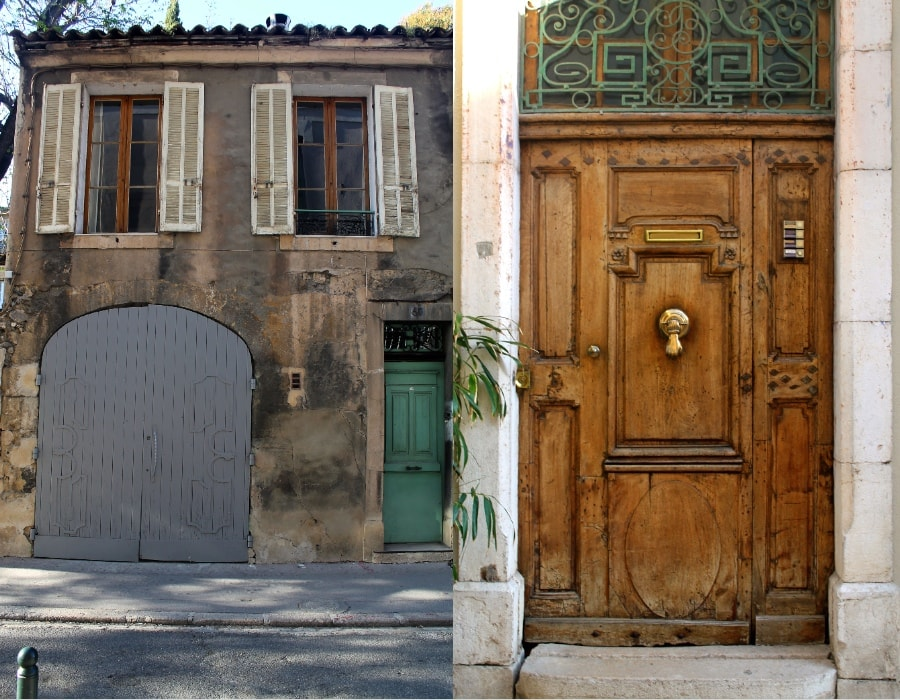 streets of Provence-mint, gray, wood