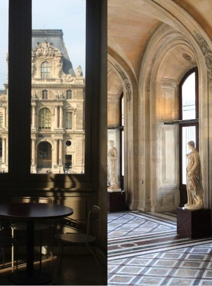 The Louvre in the afternoon sunlight