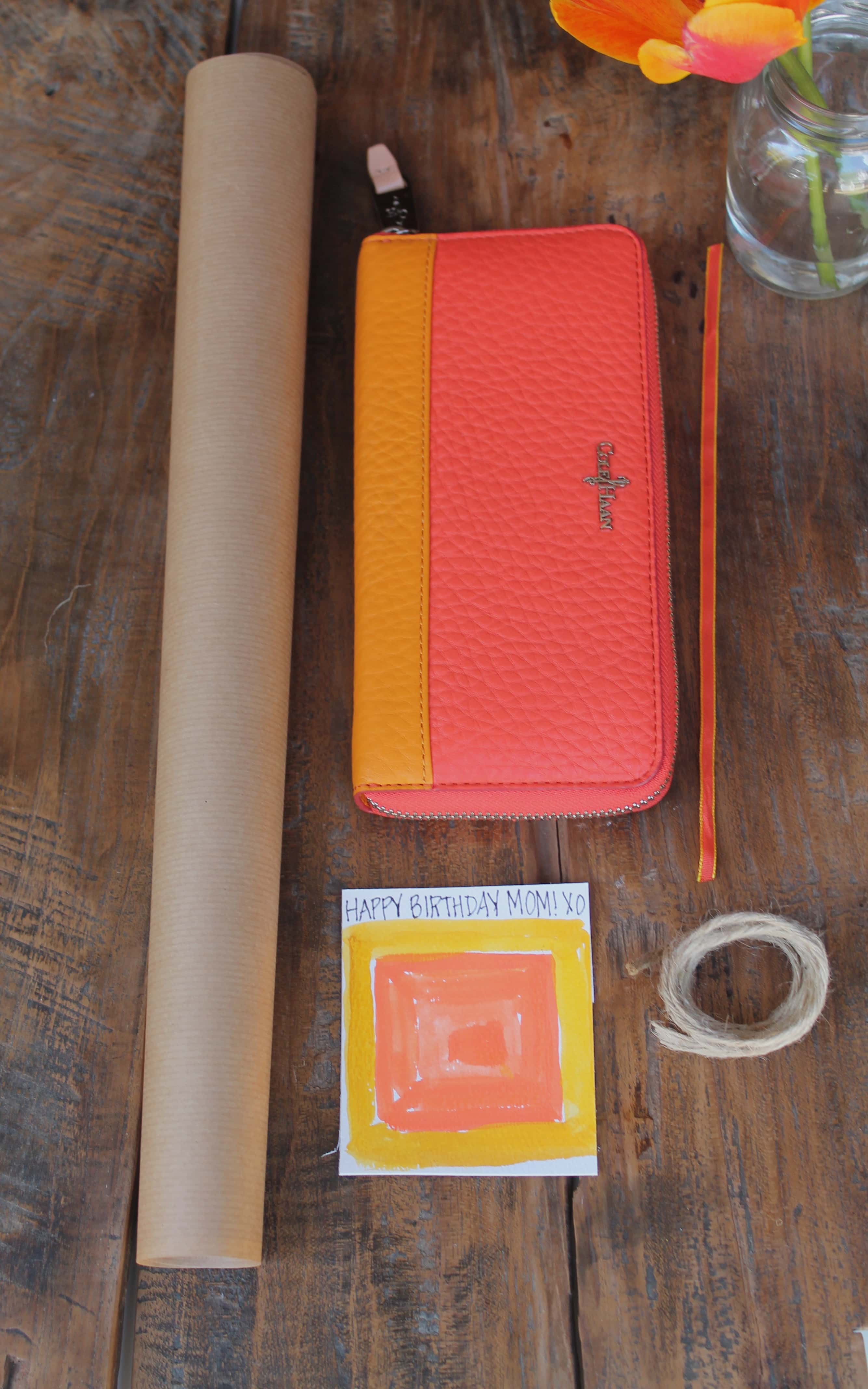 Diy color block gift tag inspired by the gift and a little for A gift for a mom