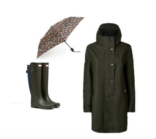 Rain Gear Green and floral