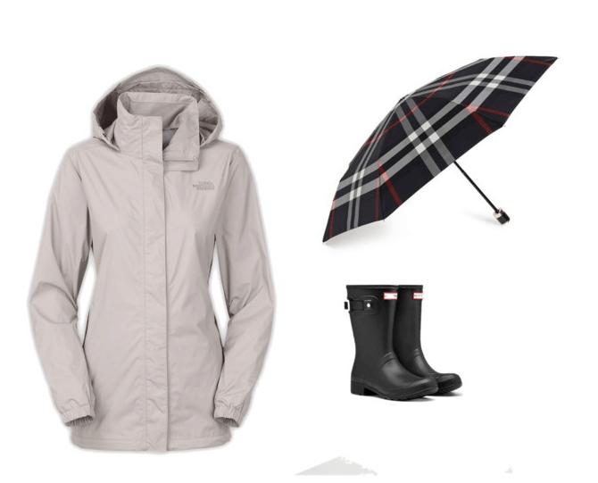 Rain Gear in black and gray