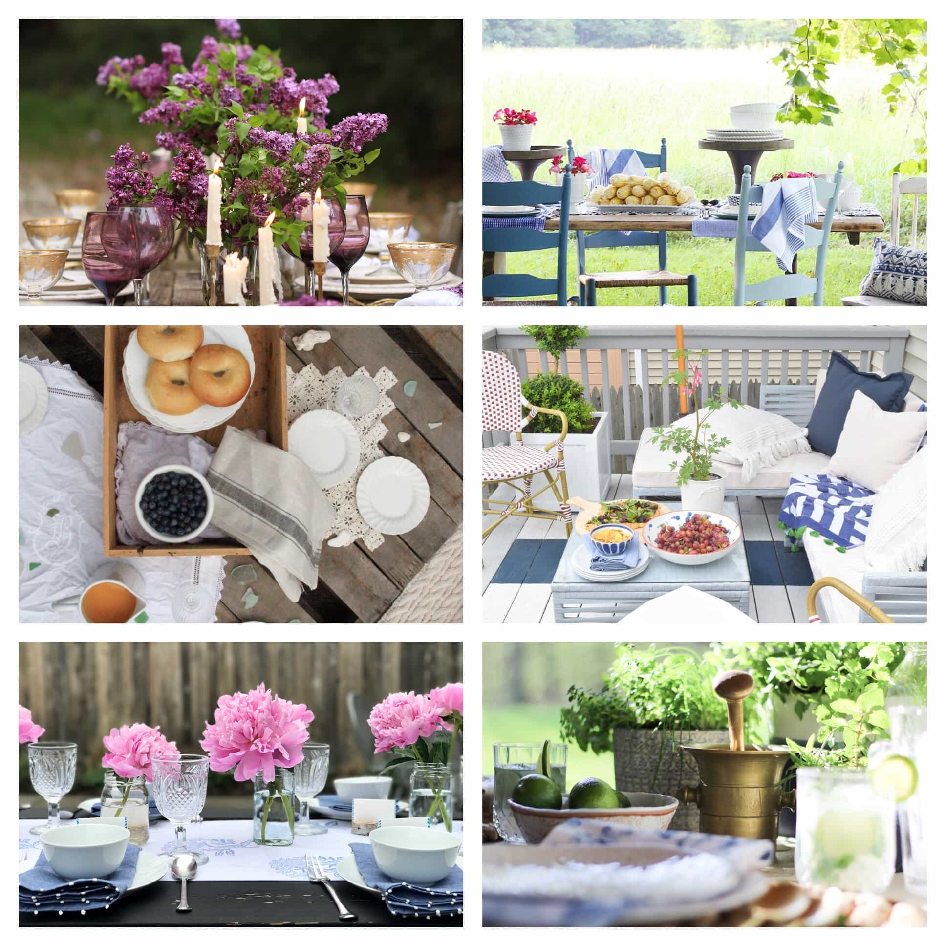 Spring Outdoor Tablescapes