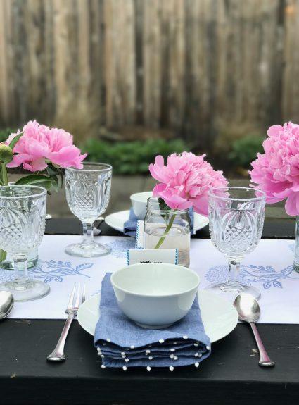 Outdoor Entertaining + Garden Flowers