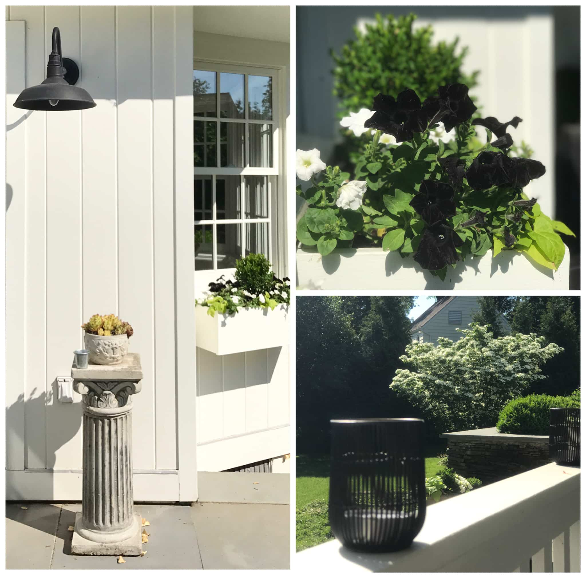 Black and white Westport, CT Cottage outdoor patio -terrace