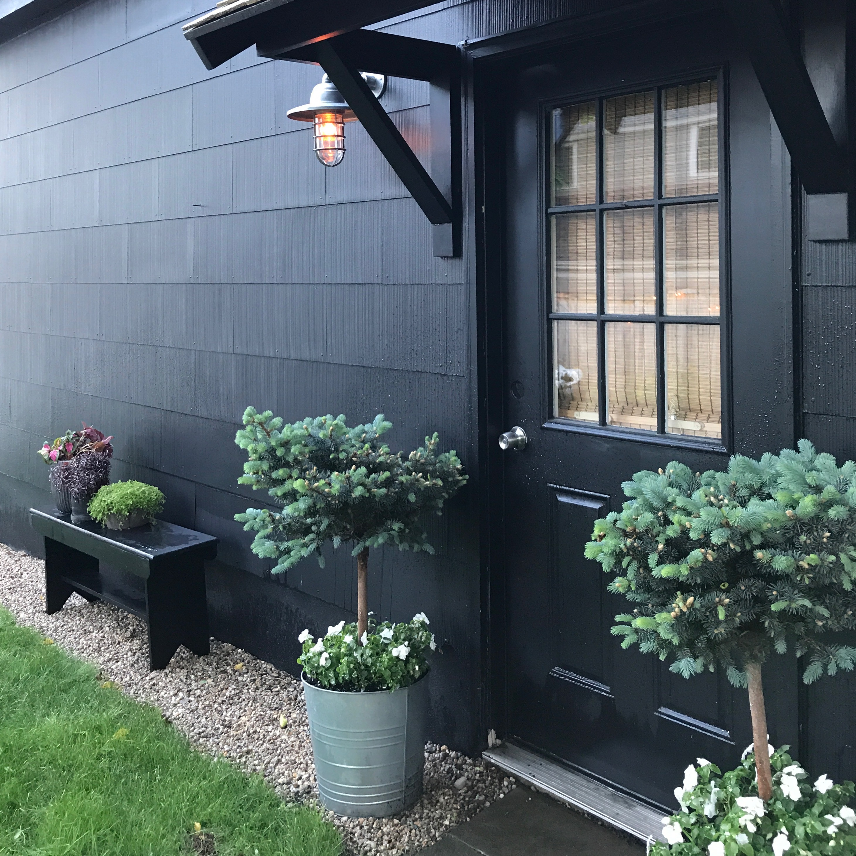 "Black Garage painted ""Black"" from Behr"