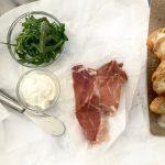 Bruschetta with Arugula, Ricotta and Prosciutto Easy Appetizer