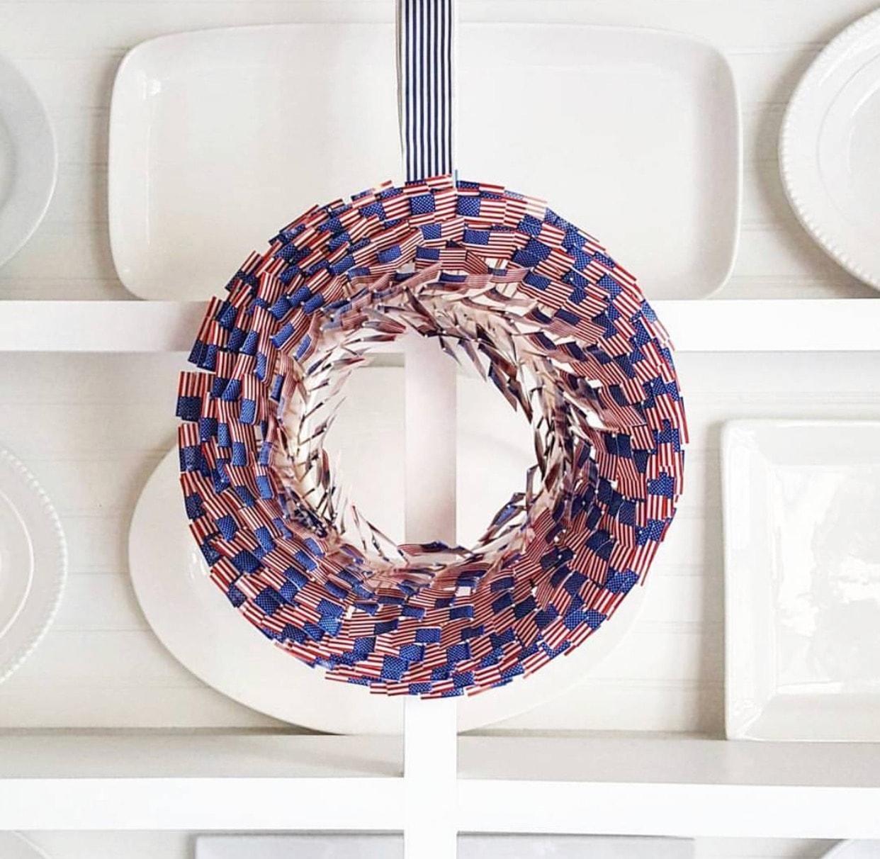 Easy Summer Bruschetta Recipes + DIY American Flag Wreath