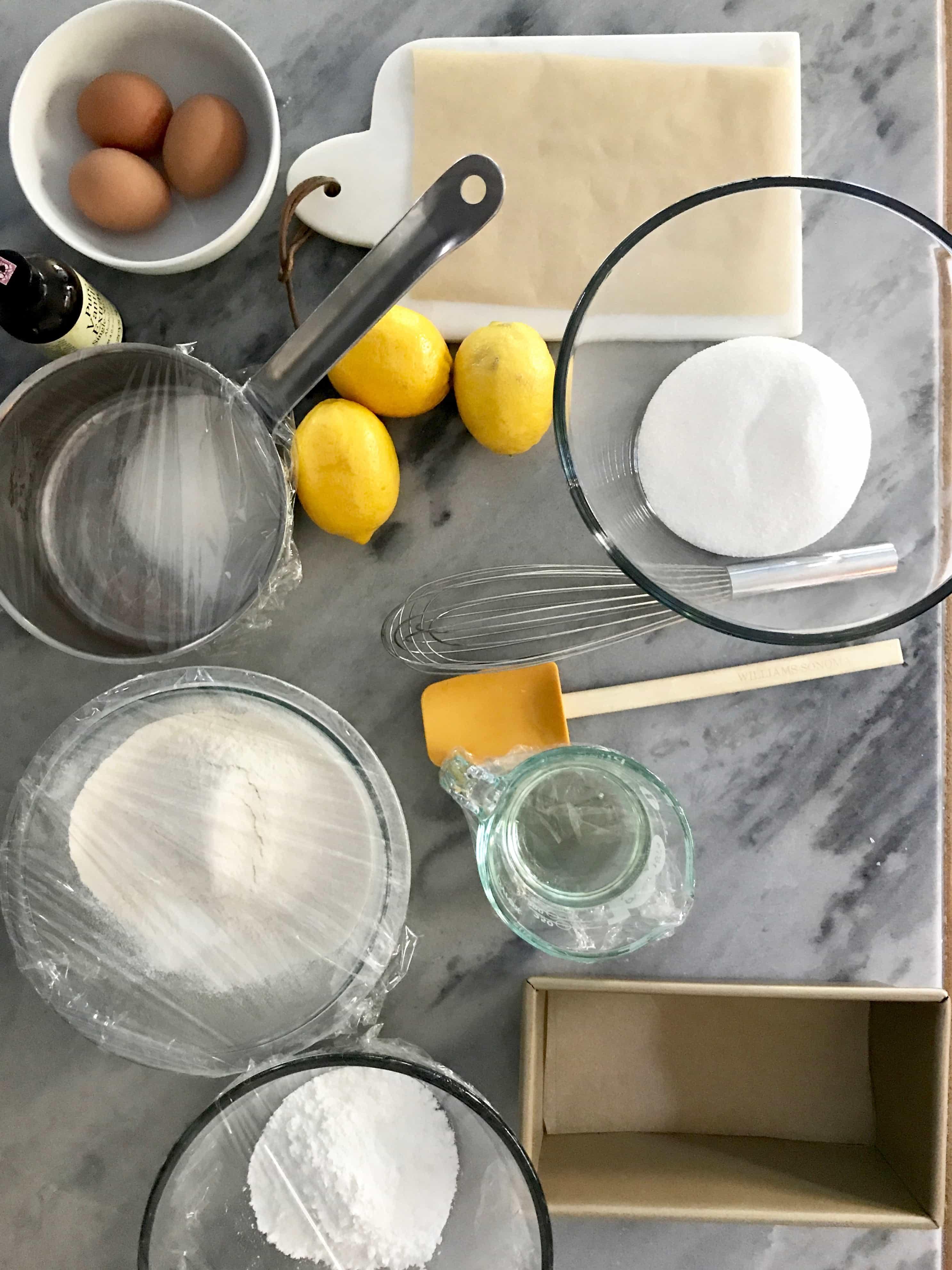 Prep the night before to make lemon yogurt cake