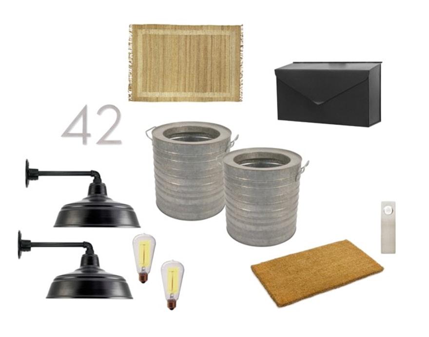 Barn-Lighting-Modern-House-Numbers-Galvanized-Planterts-Modern-Farmhouse-Style-Entryway