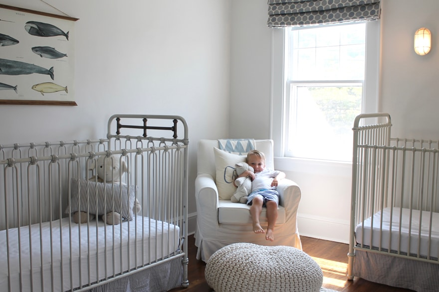 Boy Nursery In A Modern White Beach Cottage