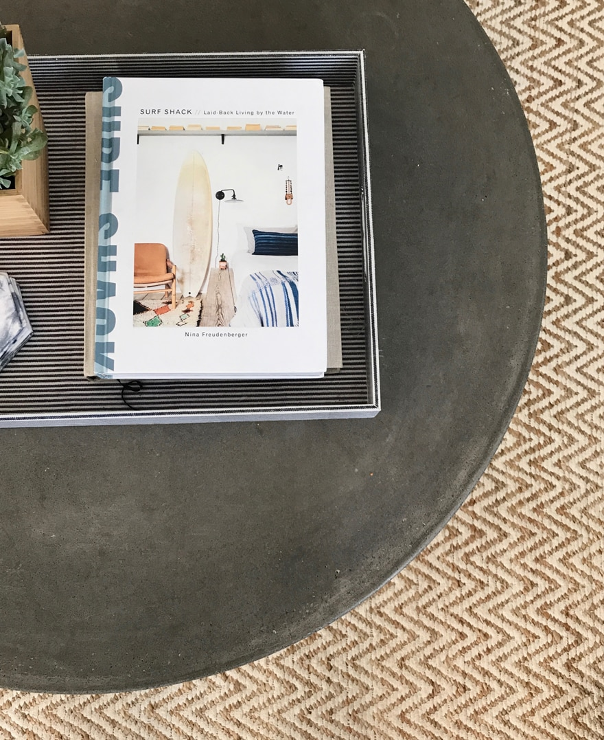 Surf Shack Book Concrete Coffee Table