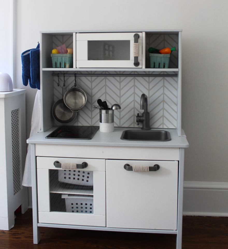 Ikea Toy Kitchen reimagined for a beach cottage
