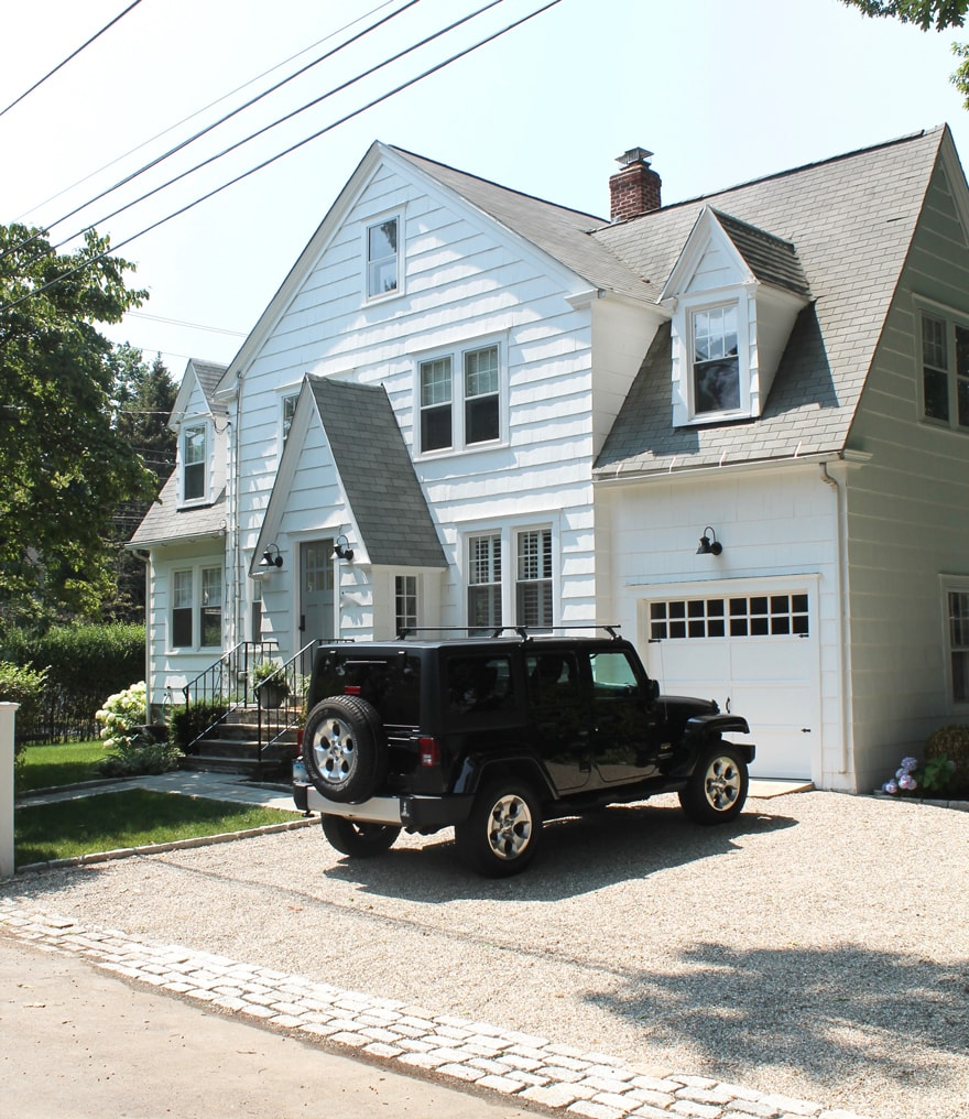 Modern New England Coastal Cottage Black Jeep