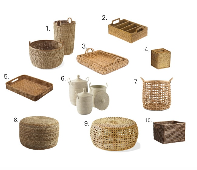 Small wicker and rattan pieces for your home