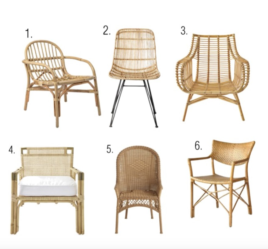 Wicker and Rattan Chairs for the home