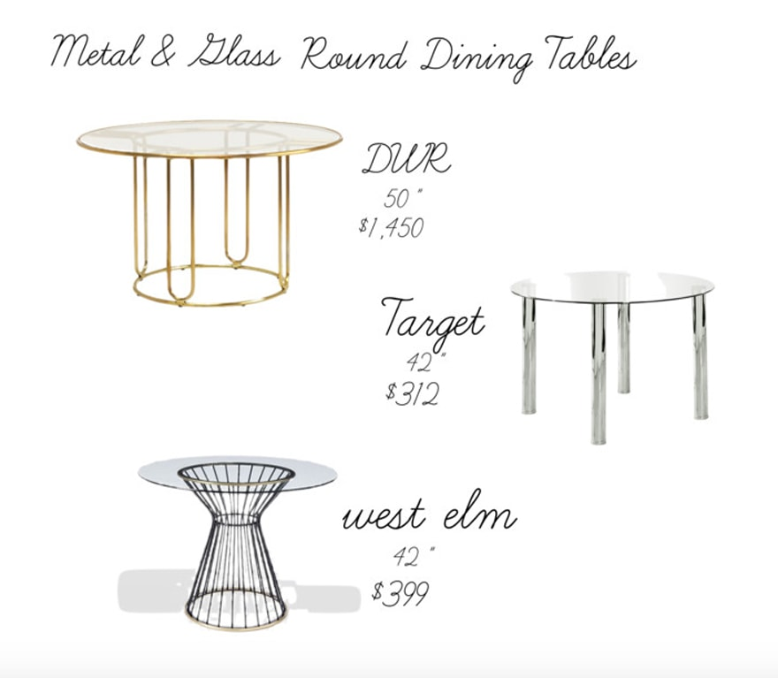 Brass-Glass-Dining-Round-Tables-West-Elm-DWR-Target