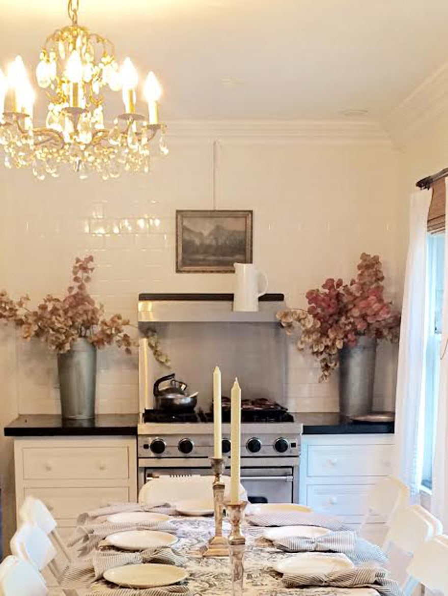 Gardeners-Cottage-Kitchen-Janet-Korff-Chandelier-Viking-Stove-black-and-white