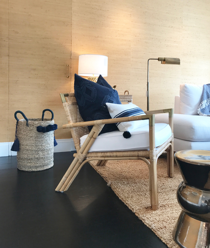 The Mattituck Chair With Cushion And Brass Accents Adds Both A Relaxed Yet  Refined Statement At The Serena U0026 Lily Design Shop In Westport