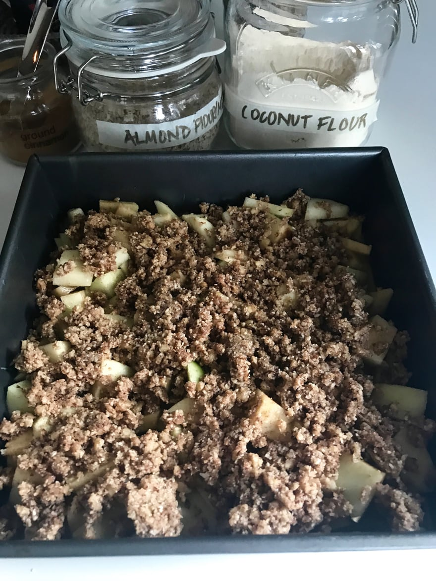 Paleo-Apple-Crisp-Almond-Flour-Jars-Coconut-Flour