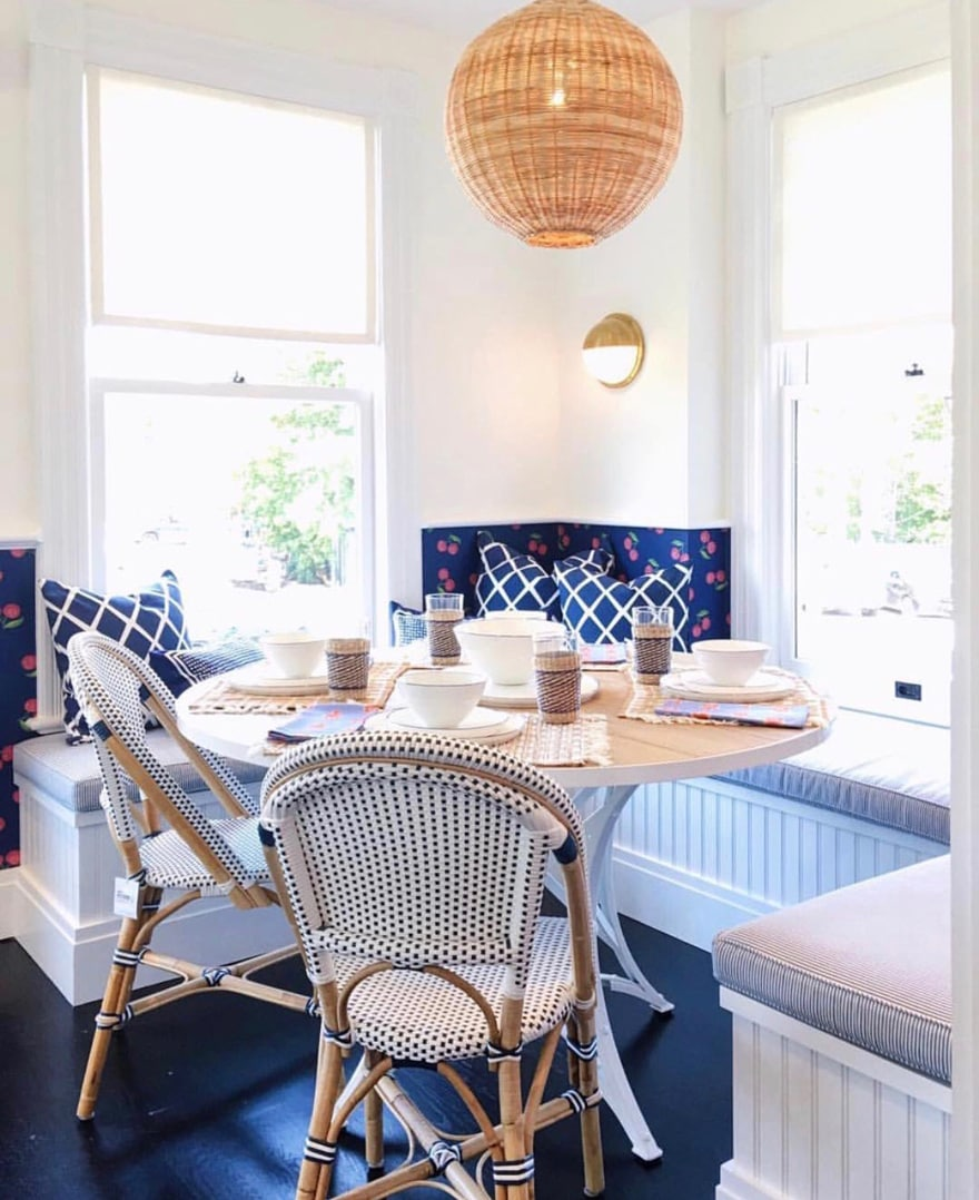 Simple Serena and Lily Westport Banquette Charlotte Table Blossom