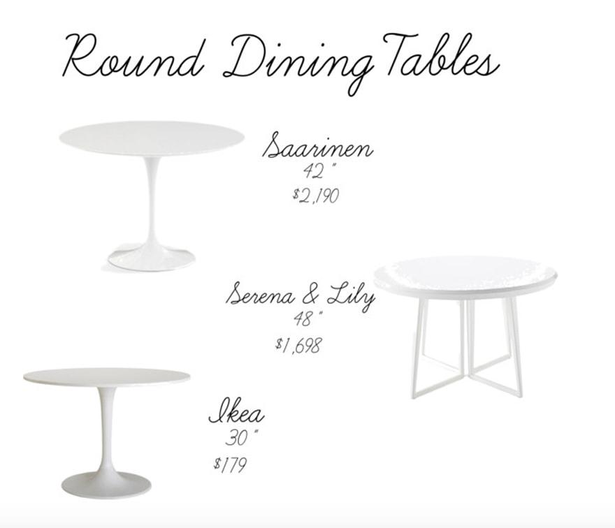Beautiful White Round Dining Tables Saarinen Tulip Table Serena