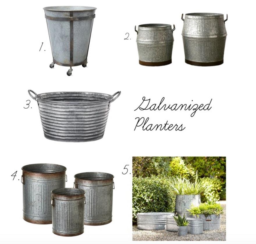 Galvanized-pots-planters-outdoor