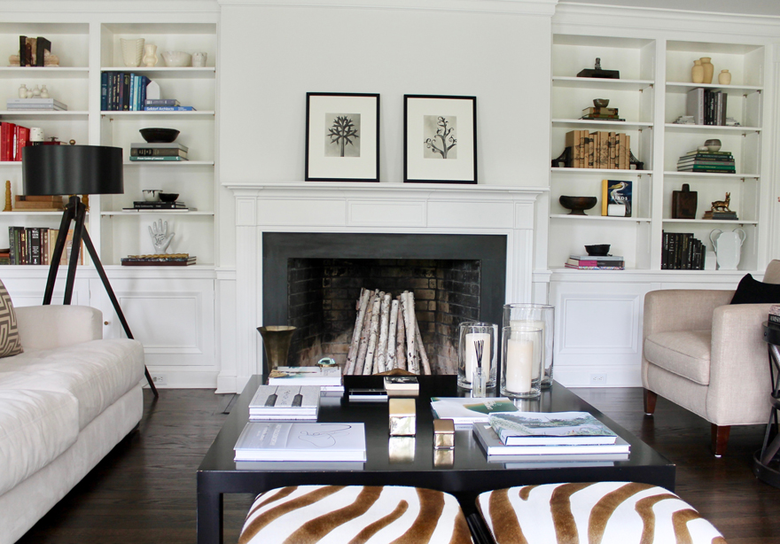 Modern-Traditional-Living-room-fireplace-collections-books-coffee-table