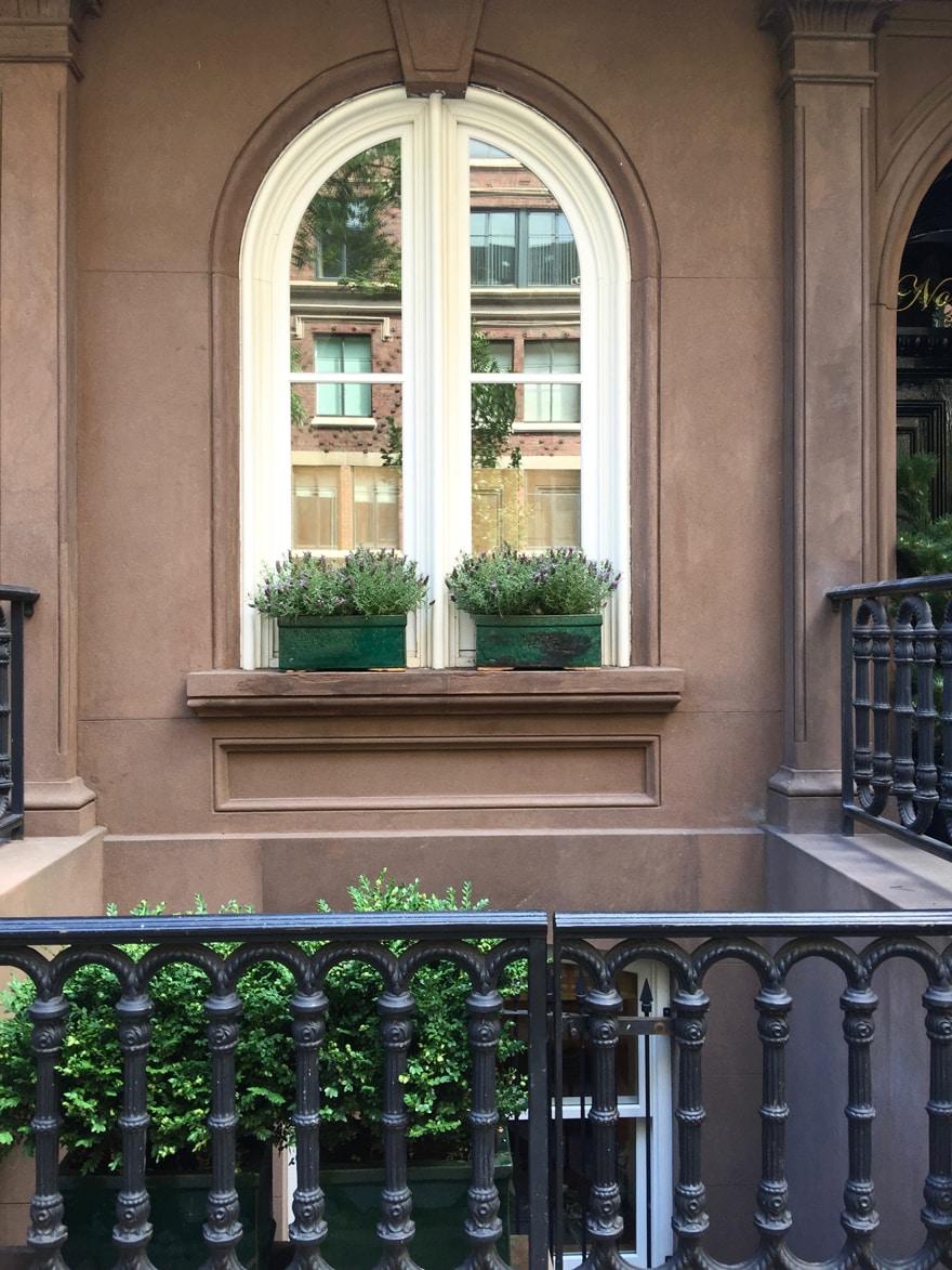 Summer-window-boxes-NYC-Lavender-Brownstone-Greenwich-Village