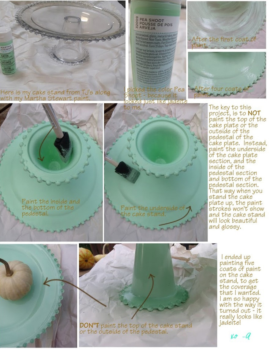fauxjadeite-cakestand-diy-martha-stewart-paints-mint-green