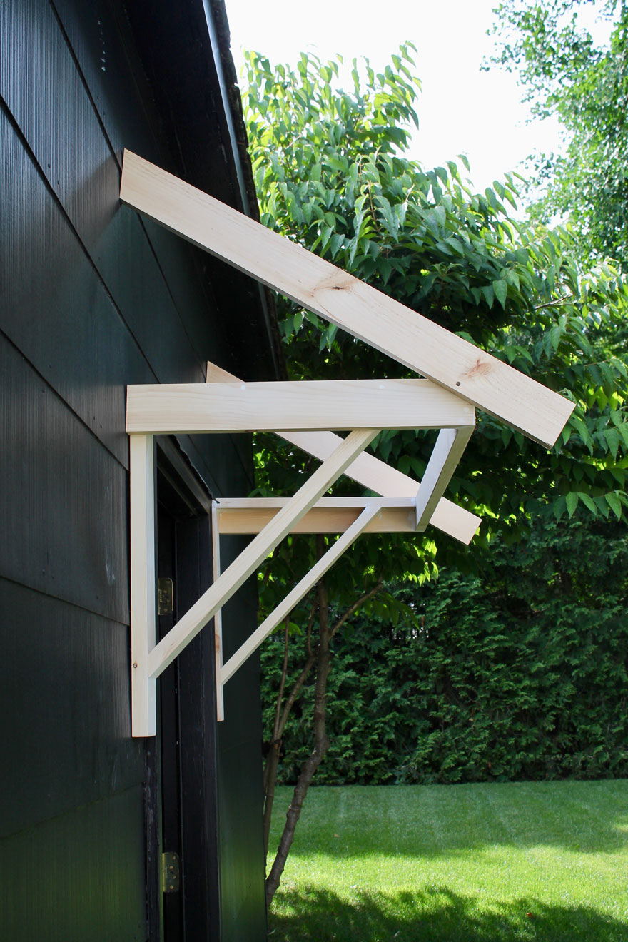 Brackets to show how to make a portico DIY