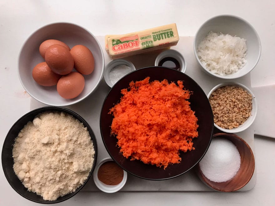 Finely grated carrots using a zester for carrot cake makes it a little smoother!