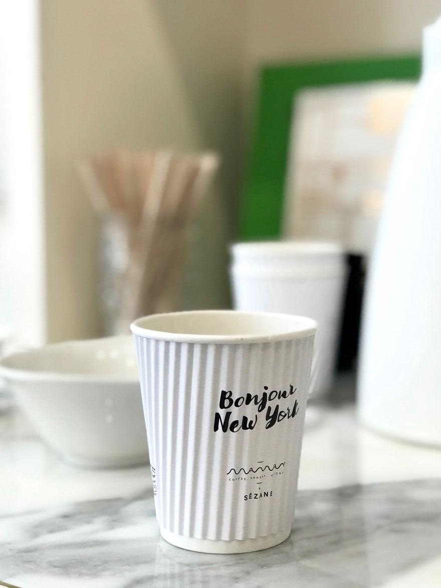 pretty coffee cups at Sézan New York in Nolita