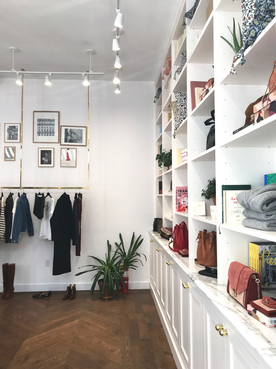 sézane clothing and pretty things in Nolita, NYC