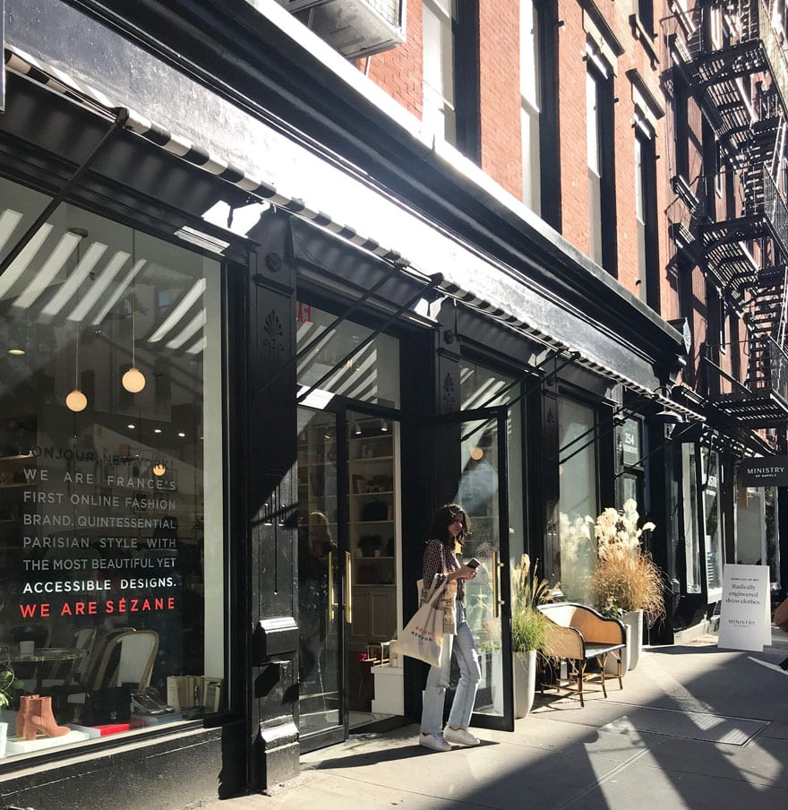A lovely October afternoon at Sezane in New York