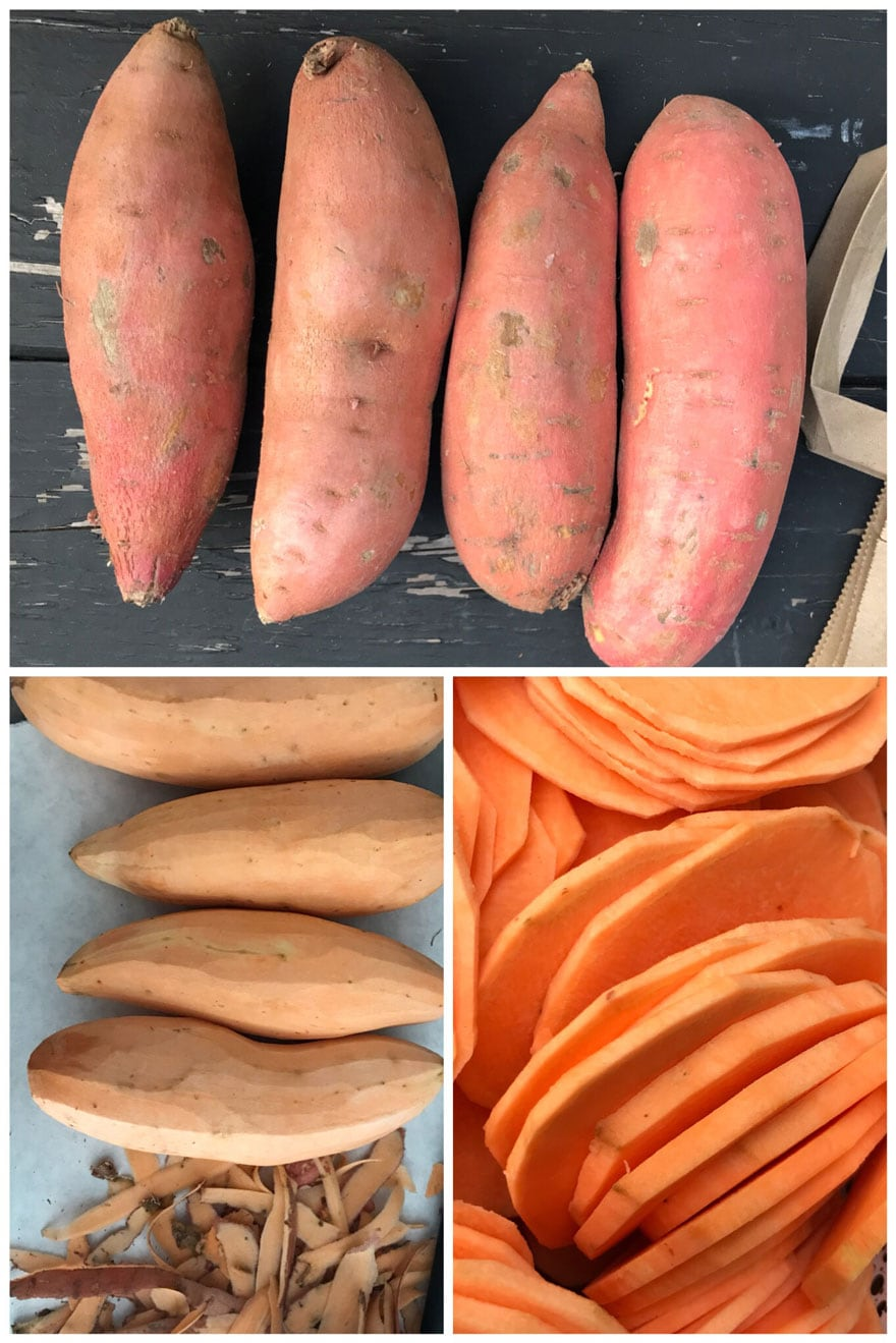 Choose sweet potatoes that are similar in size and shape