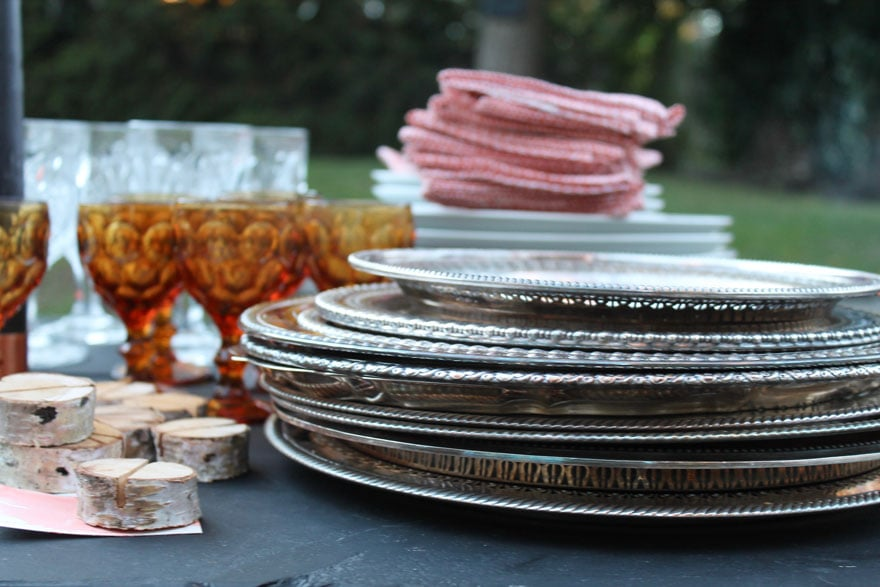vintage-trays-silver-table-setting-outdoor-al-fresco