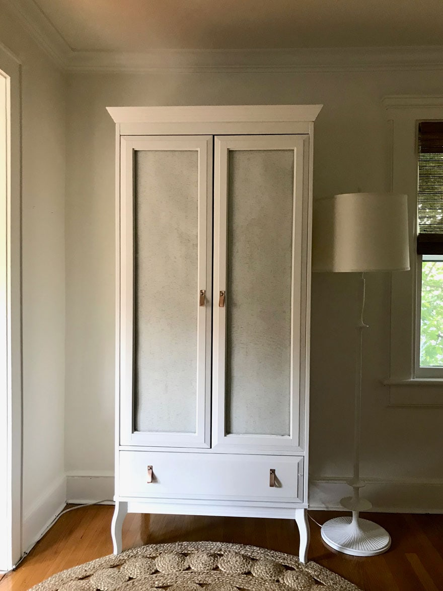 I updated an Ikea armoire with Chalk Paint® decorative ...