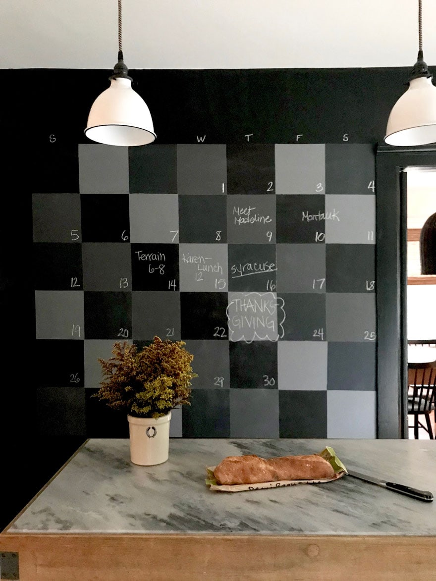 Benjamin Moore chalkboard paint makes all the difference for a chalkboard wall