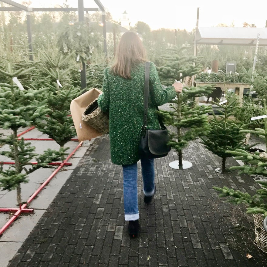Christmas tree shopping at Terrain in Westport, CT