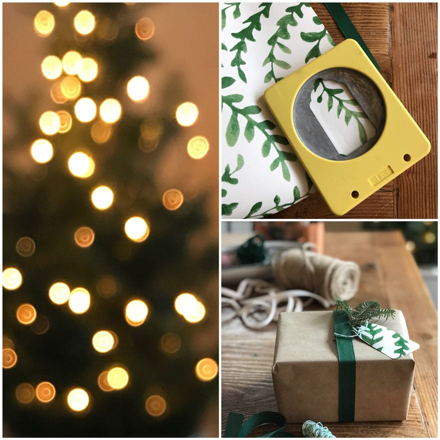Use a gift tag punch that allows you to frame exactly what you want your tag to look like.