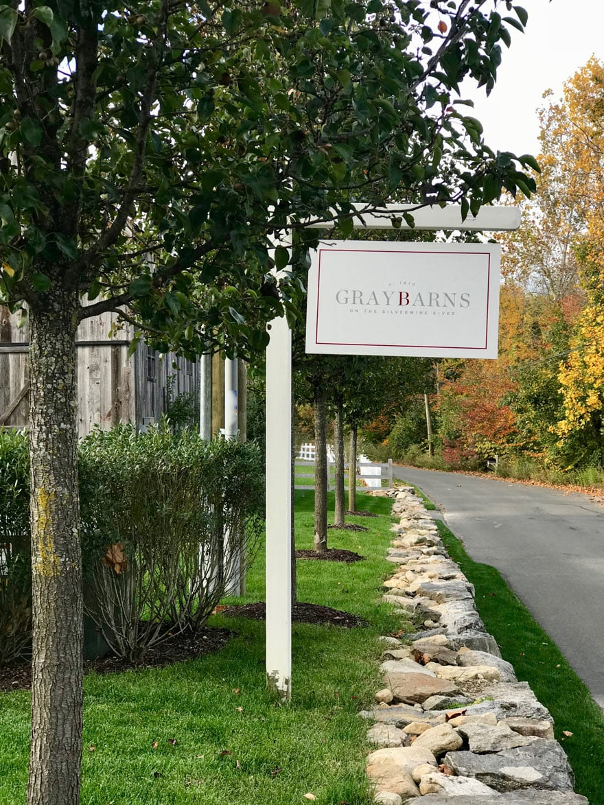 Graybarns in Silvermine, CT is an inn, tavern, a small group of homes, an events barn and soon a mercantile