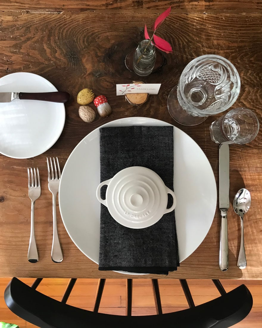 a rustic table for thanksgiving