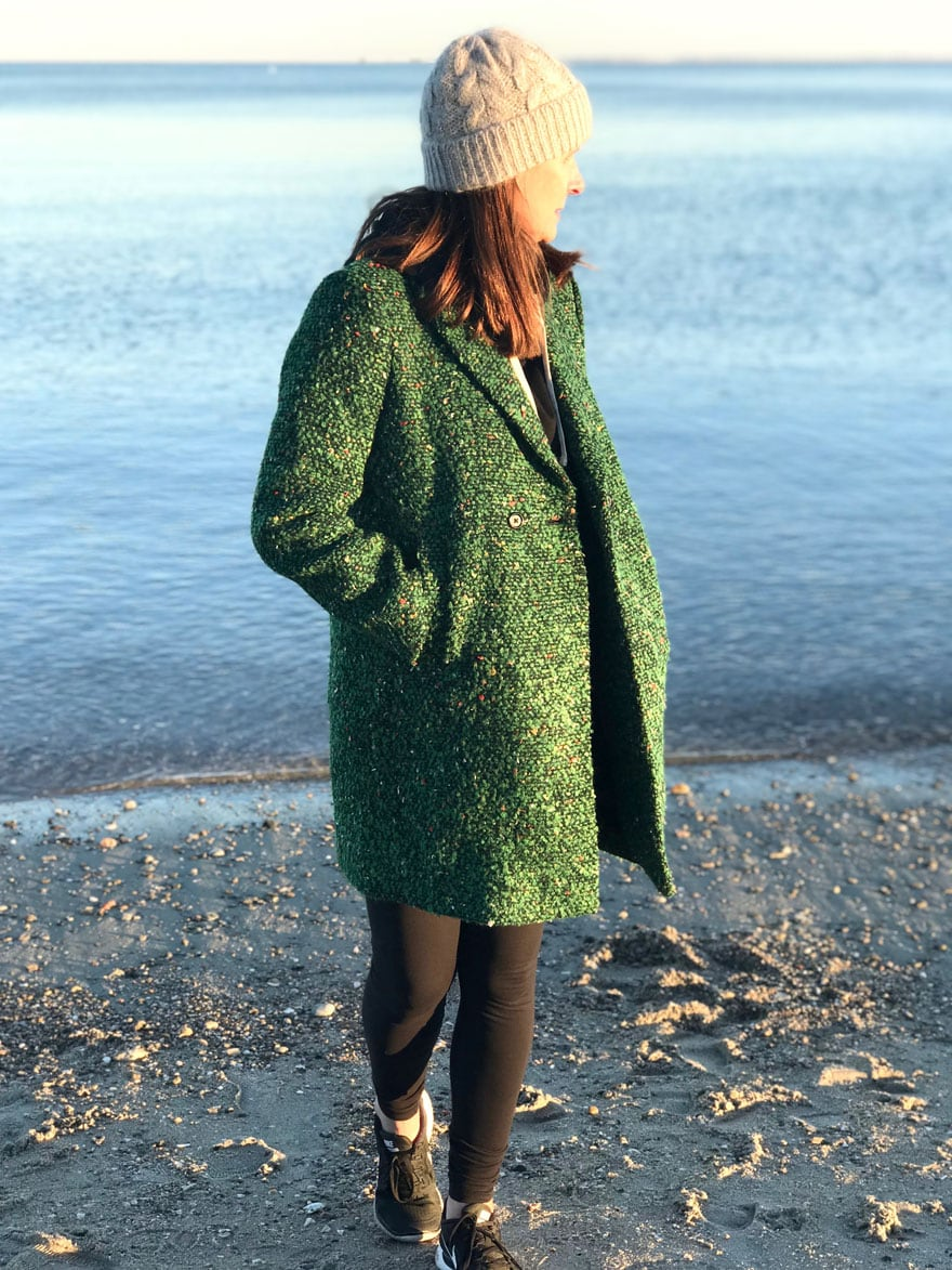 a bouclé coat is perfect with everything!