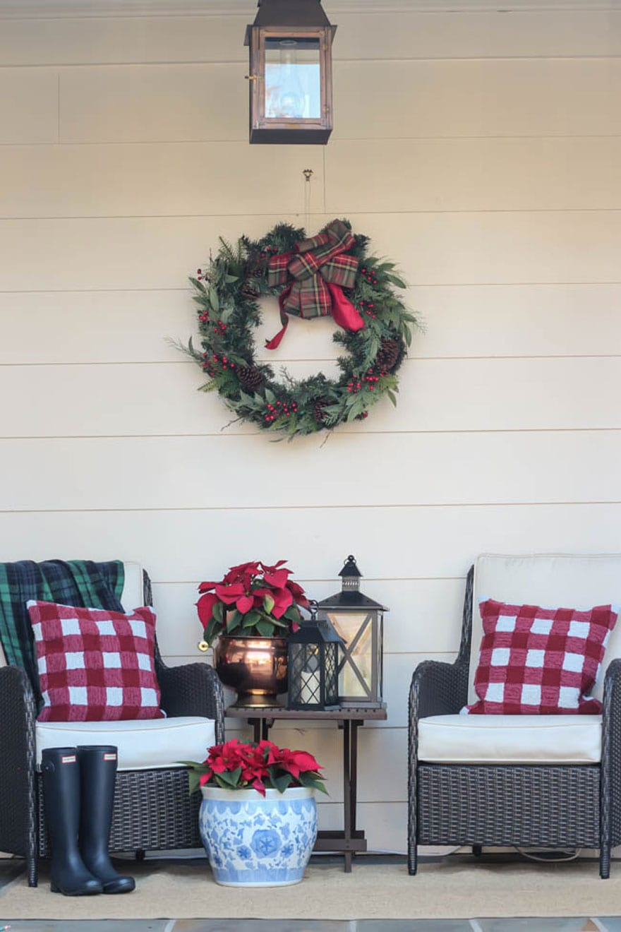 A pretty Southern Christmas porch