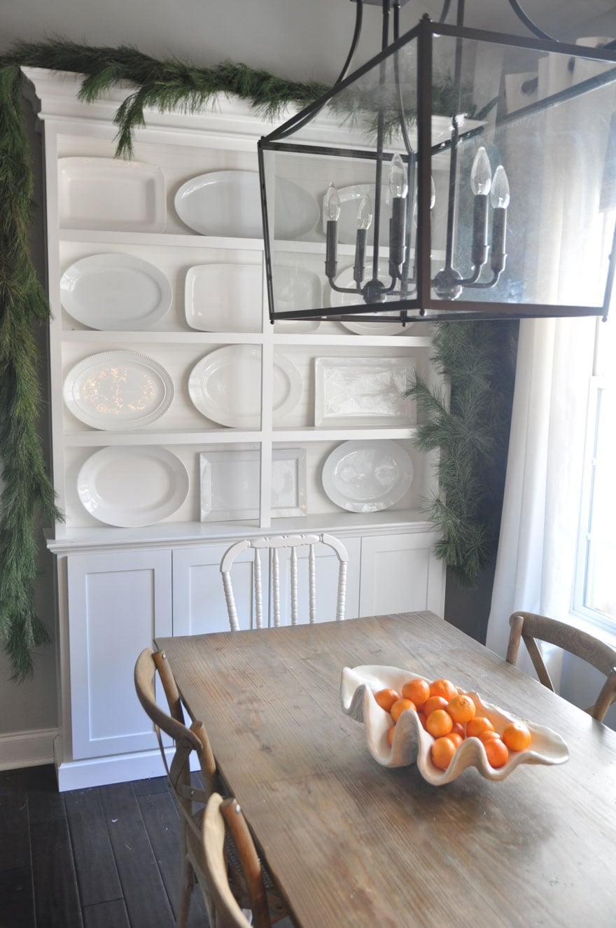 A Beautiful Collection Of White Platters In The Dining Area. Bungalow Blueu0027s  ...